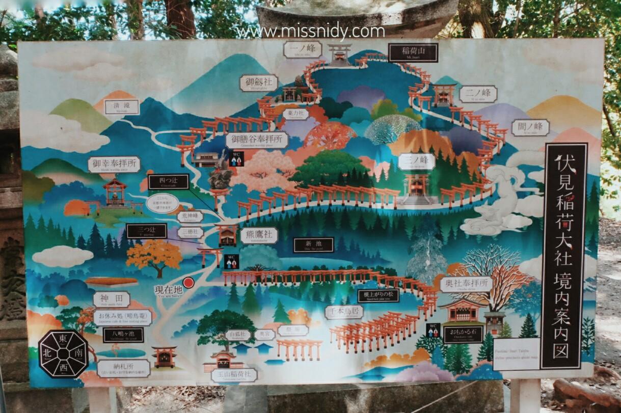 maps of fushimi inari