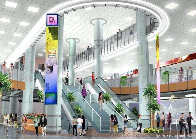 Phối cảnh trung tâm thương mại Ciputra Mall - Ciputra - udic westlake