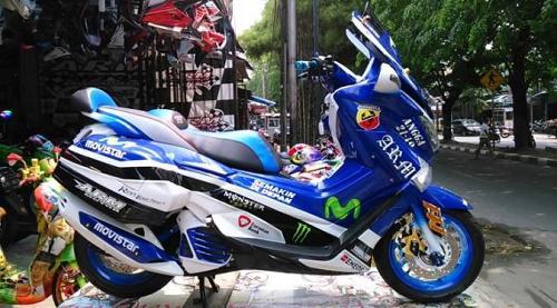 Modifikasi Motor NMax Moto GP