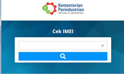 Website Kemenperin untuk mengecek IMEI HP