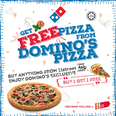 11street Domino's Pizza Buy 1 Free 1 Voucher