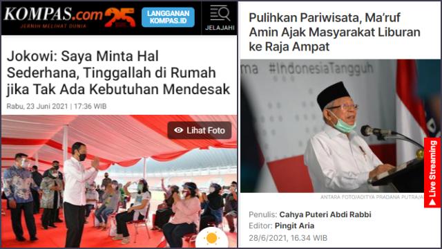 Jokowi Minta Masyarakat Tinggal di Rumah, Ma'ruf Amin Ajak Berwisata