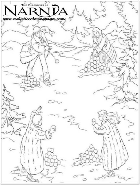 Realistic coloring pages of The Chronicles Of Narnia