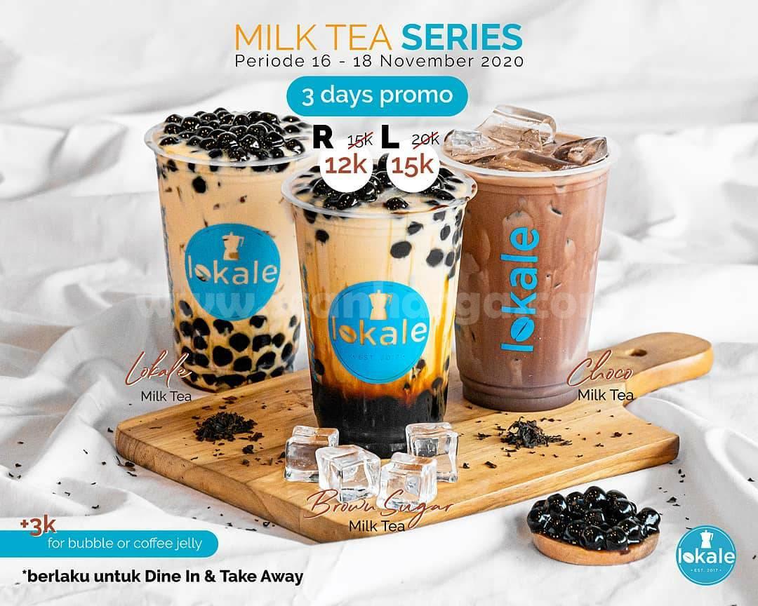 Promo LOKALE: Milk Tea Series harga mulai Rp 12.000