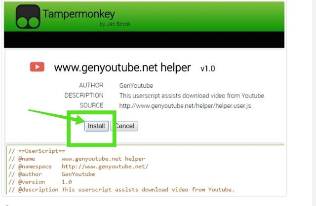 Tampermonkey extension widget installation