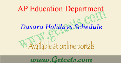 AP dasara holidays 2021 for schools & colleges in andhra pradesh