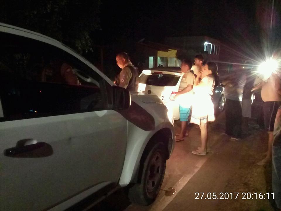 Buracos na avenida provoca acidente na noite deste sábado em Batalha