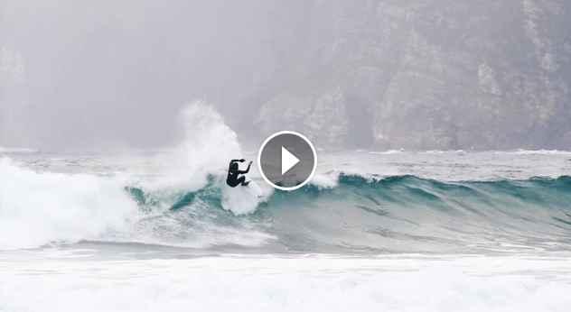 Gony Zubizarreta Marlon Lipke surfing in Hoddevik Norway
