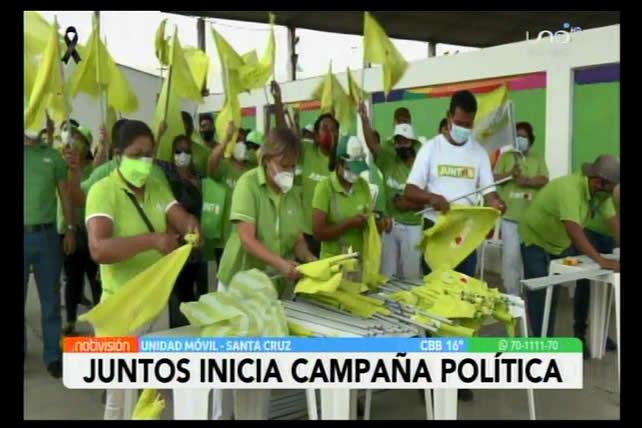 Alianza Juntos comienza la campaña para elecciones nacionales con caravanas y redes sociales