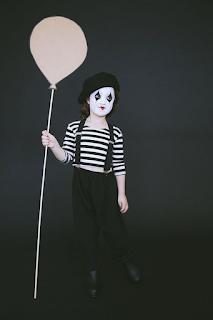 Déguisement mime diabolique Halloween blog www.unjourmonprinceviendra26.com
