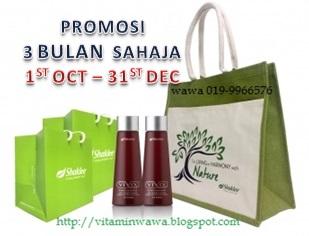 Promosi Shaklee 3 Bulan 1st October -31st December 2016