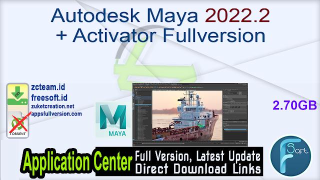 Autodesk Maya 2022.2 + Activator Fullversion