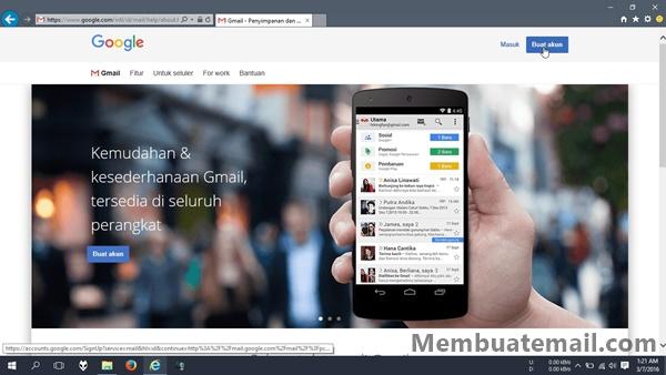 Langkah 1 Membuat Email Gmail