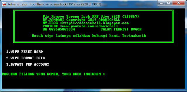 File Screen Lock FRP Account Vivo Y928