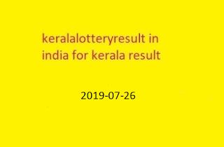 nirmal lottery sthree sakthi lottery result 2019-07-26