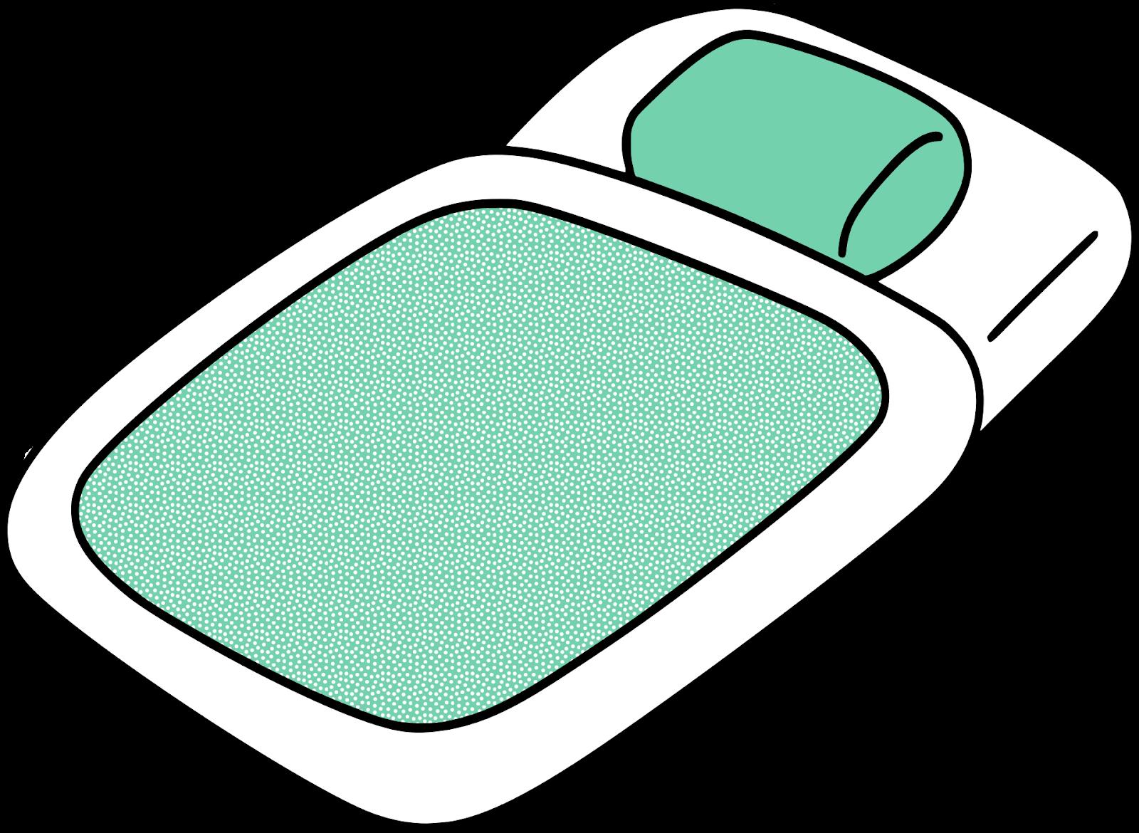 白地に薄緑色の一組の布団
