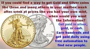 GOLD AND SILVER AT ALL NEW LOWER PRICING,  Click the coins.