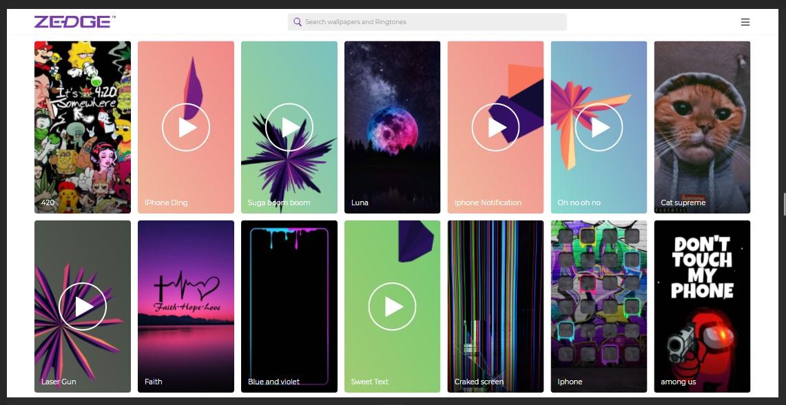 Zedge Ringtones Wallpapers Buat Android Kamu Sekeren Iphone