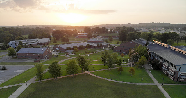 Aerial photo of UACCM campus during dawn