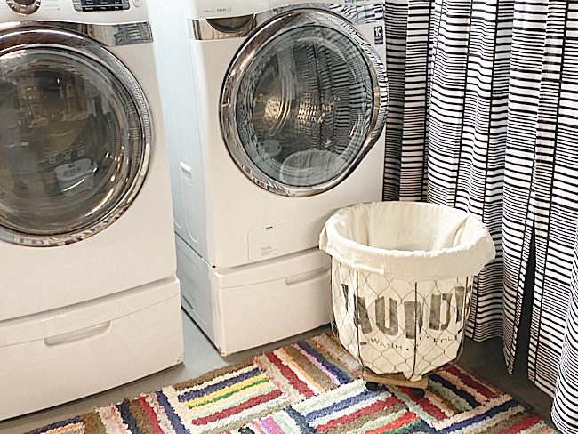 washer dryer and laundry basket