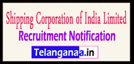 SCI Shipping Corporation of India Limited Recruitment Notification