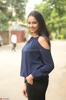 Poojita Super Cute Smile in Blue Top black Trousers at Darsakudu press meet ~ Celebrities Galleries 067.JPG