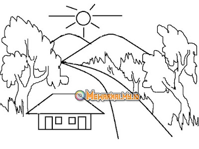 Mewarnai Pemandangan Alam dengan Crayon