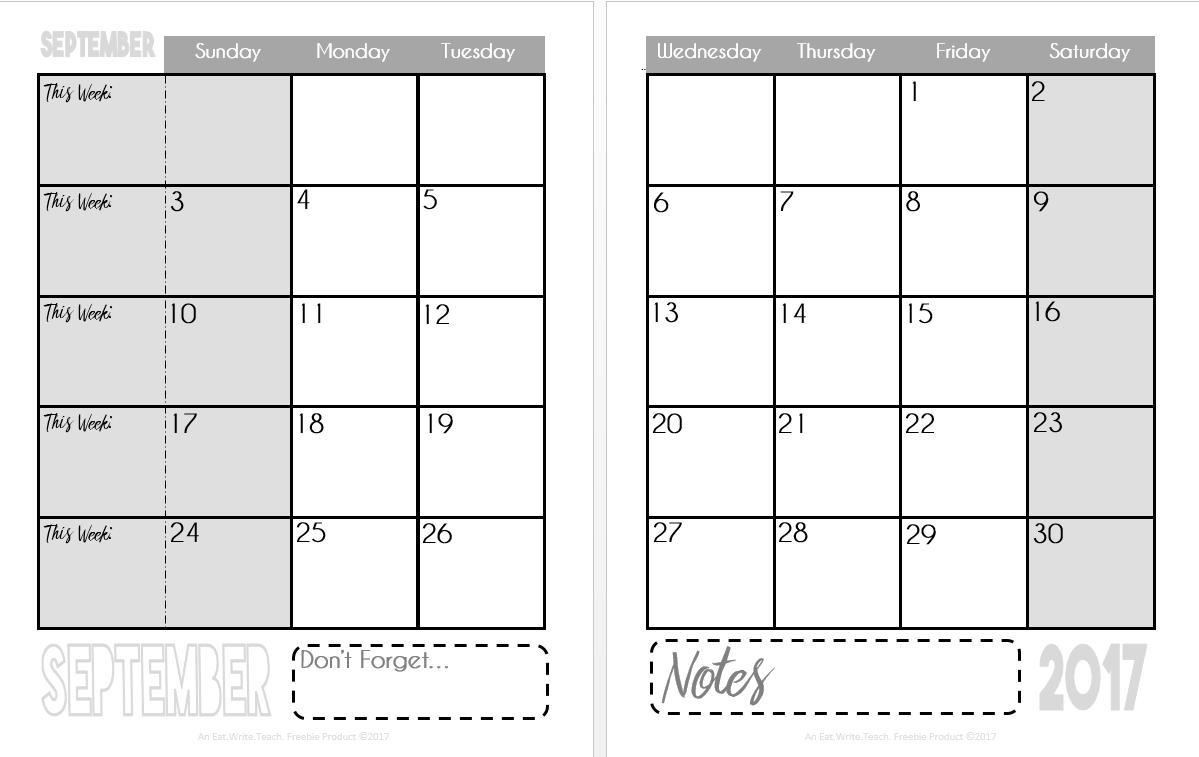 eat write teach 2017 2018 calendars are now available