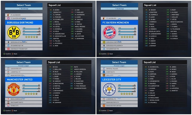 Option File PES 2017 untuk PTE 5.0 update 20-03-2017