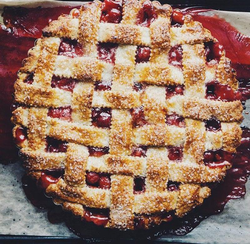 Ginger Cherry Pie