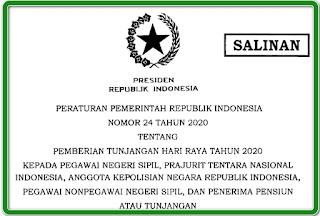 Peraturan Pemerintah Nomor 24 Tahun 2020 tentang THR