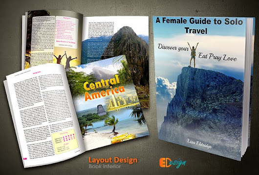 Book Layout Design A Female Guide to Solo Travel
