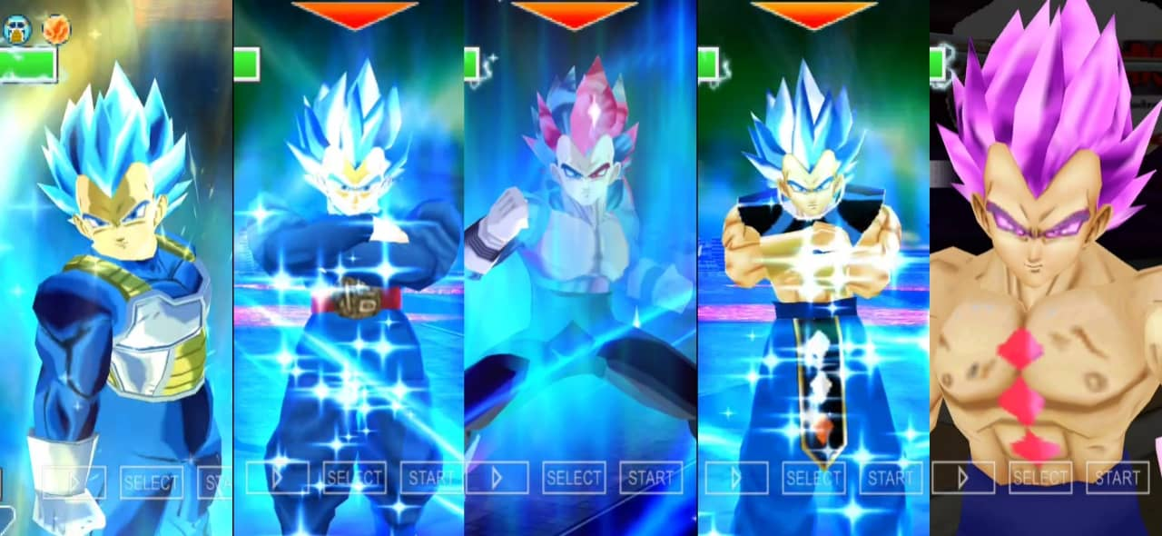 Dragon Ball Super Vegeta all forms and Transformation