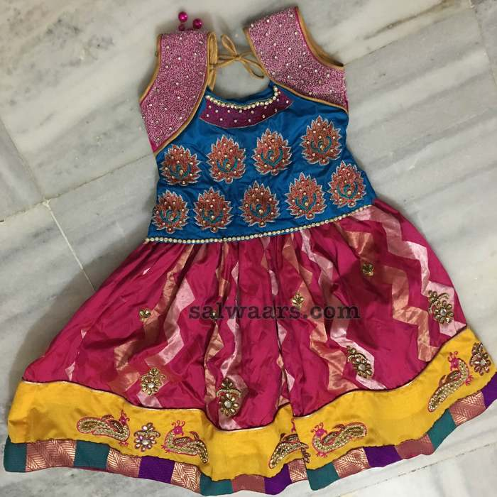Benaras Lehenga Blue Work Blouse