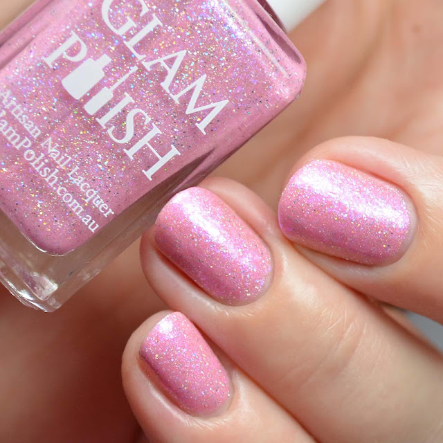 pink holo crelly nail polish