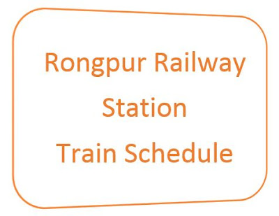 rongpur station train schedule