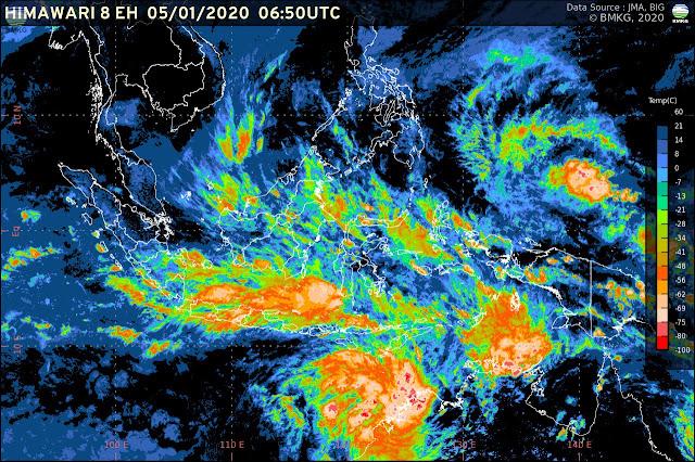 Waspada Potensi Cuaca Ekstrem Sepekan Ke Depan (5-12 Januari 2020) Melintas Di Daerah Ini