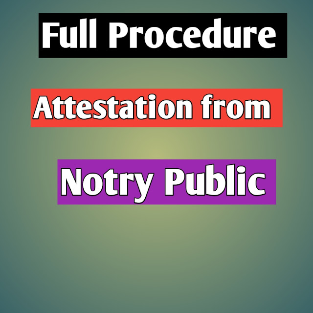 Attestation From Notary Public