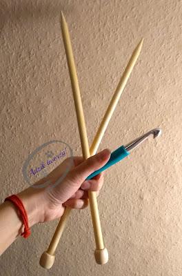 bambusowe druty, ergonomiczne szydełko
