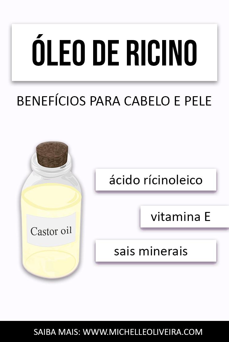 óleo de rícino benefícios