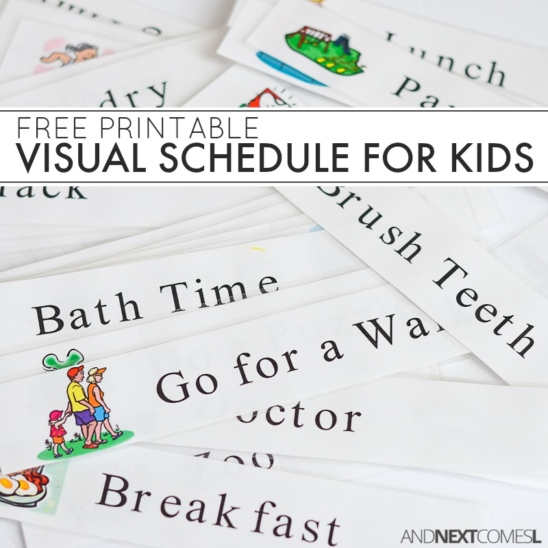 Free printable daily schedule for kids great with autism and or sensory also visual next comes  rh andnextcomesl