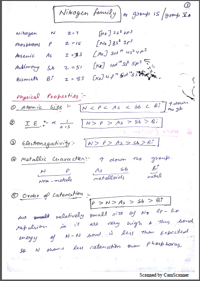 Chemistry Chapterwise Notes (P - Block Group 15,16,17,18) : For JEE and NEET Exam PDF Book