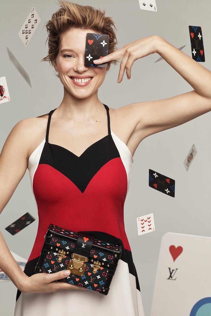 Lea Seydoux stars in Louis Vuitton cruise 2021 campaign.