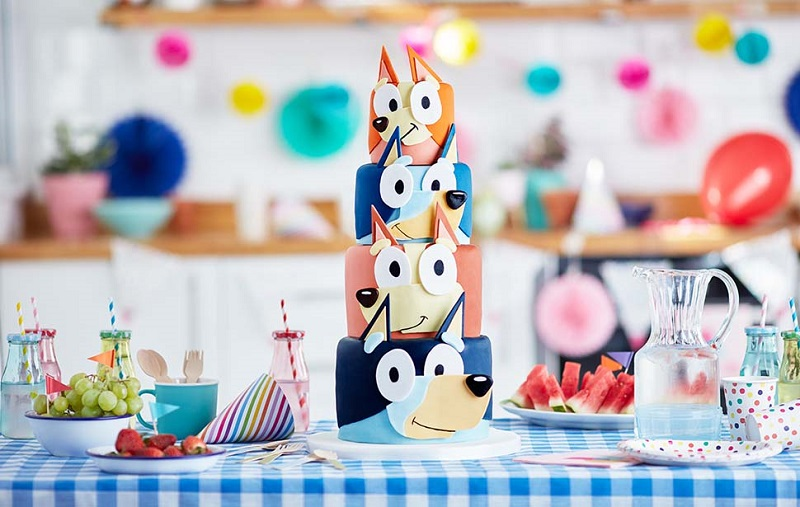 bluey and bingo birthday cake