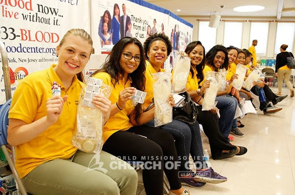 Volunteers are ready to donate at the East Coast Mega Blood Drive 2016