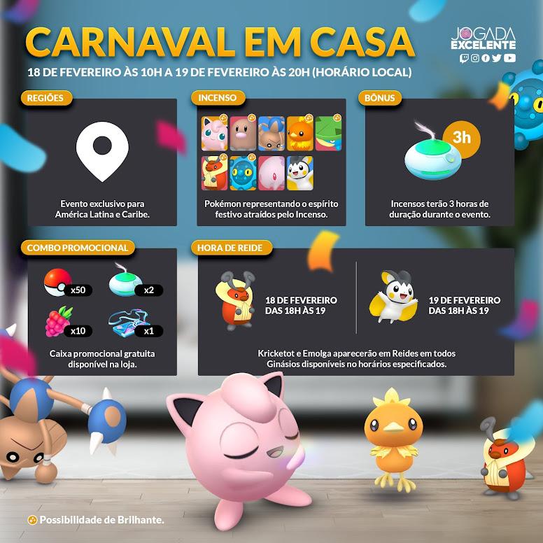 Infográfico Pokémon GO Evento Carnaval