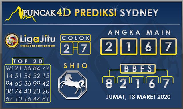 PREDIKSI TOGEL SYDNEY PUNCAK4D 13 MARET 2020