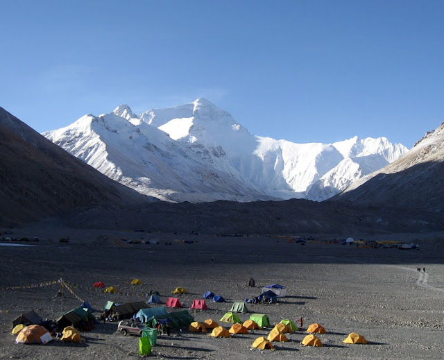 On an Everest base camp tour, you can enjoy one nigh in tent at Everest base camp.
