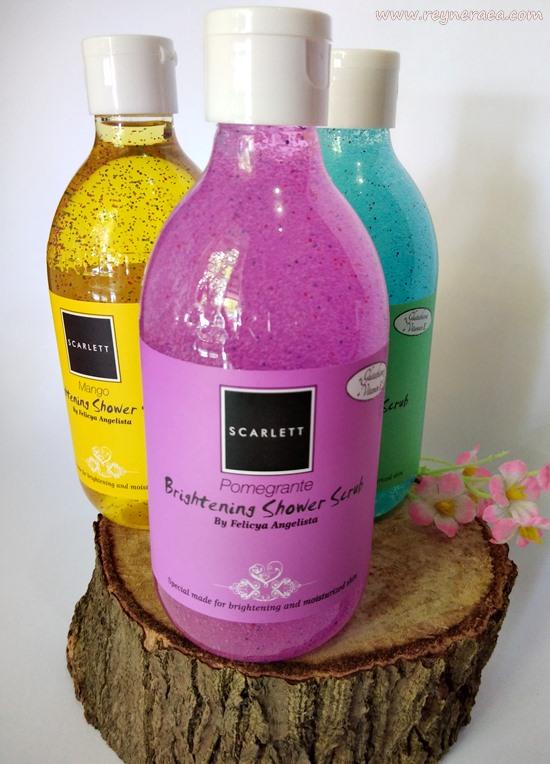 review Scarlett Whitening Brightening Shower Scrub Pomegrante