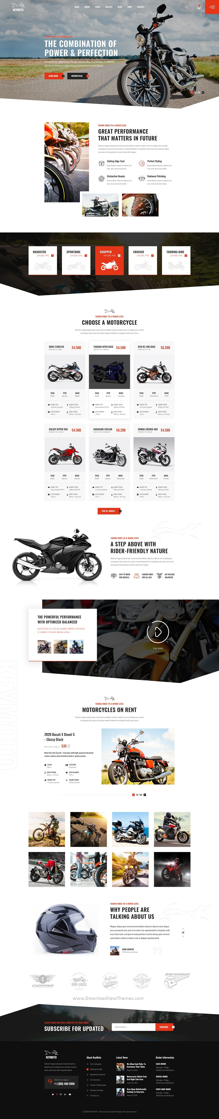 Motorcycle PSD Template